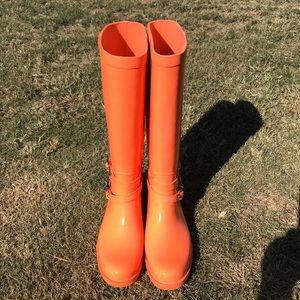 Coach LORI tall rain boots size 10B in coral